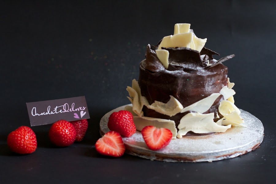 Chocolate Heaven by John Puddy - Food & Drink Cooking & Baking ( cake, chocolate, strawberries, notjustageek photography )