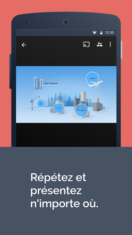 Prezi Viewer – Capture d'écran
