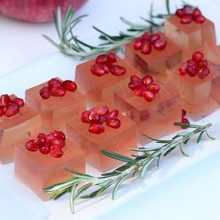 Rosemary and Pomegranate Holiday Jelly Shot