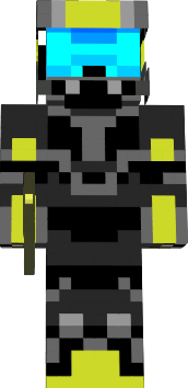 yellow black halo minecraft skin nova skin