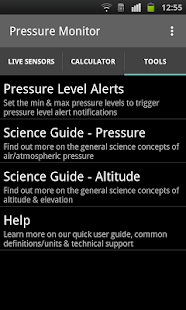 Pressure Monitor - Sensors- screenshot thumbnail