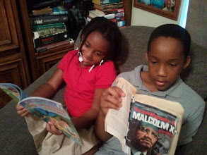 Photo: the kids are reading :-)