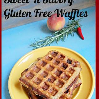 Sweet 'n Savory Gluten Free Peach Waffles