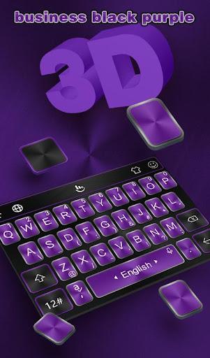Download Business Black Purple Keyboard Theme MOD APK 1
