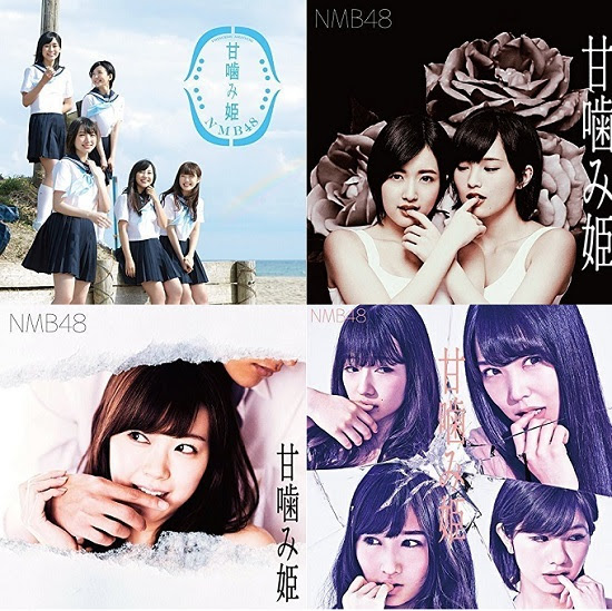 160427 NMB48 14th Single - 甘噛み姫 TypeA+TypeB+TypeC+TypeD