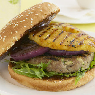 Hamburgers with Grilled Pineapple
