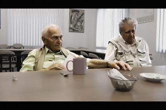 Photo: Natáčení na Židovské obci v Ostravě s panem Eliášem a panem ing. Salomonovičem, který rovněž přežil pobyt v koncentračním táboře Auschwitz-Birkenau (pátek 15. červenec 2011).