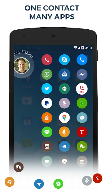 #6. Contacts Phone Dialer: drupe (Android)
