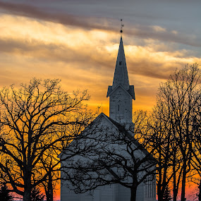 Loveandpeace by Bob White - Buildings & Architecture Decaying & Abandoned ( love, god, church, jesus, sunset, glow,  )