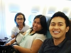 Photo: Inside the plane with Benj and Almondy of GDG Bacolod and GDG Baguio, respectively.
