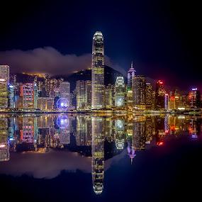 Hong Kong Skyline by Dmitriy Andreyev - City,  Street & Park  Skylines (  )