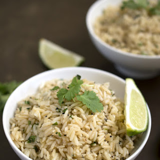 Healthy Cilantro & Lime Brown Rice Recipe