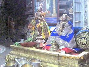 Photo: thiruppANAzhwAr and emperumAnAr - after thirumanjanam