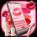 Salmon Amber Lipstick Keyboard Theme APK