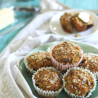 "Carrot Raisin""everything"" Muffins"