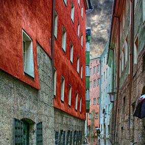 Innsbruck Austria by Dennis Granzow - City,  Street & Park  Street Scenes