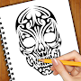 How To Draw Skull Tattoos APK icon