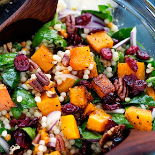 Autumn Pearl Couscous Salad with Roasted Butternut Squash.