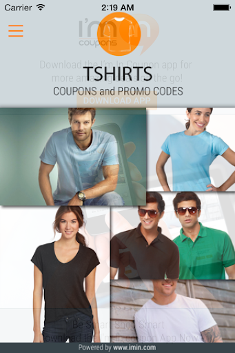 T-Shirts Coupons - I'm in