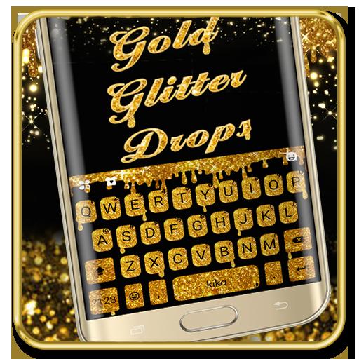 Gold Glisten Drops Keyboard Theme Icon