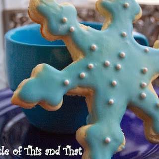 Let it Snow...Snowflake Cut Out Cookies Supersized!