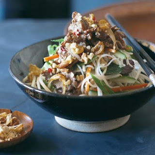 Vietnamese Beef and Rice Noodle Salad.