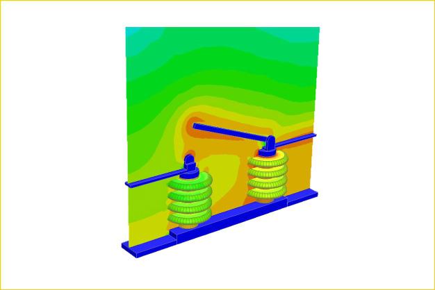 ANSYS - Расчет электромагнитного поля на клеммах трансформатора