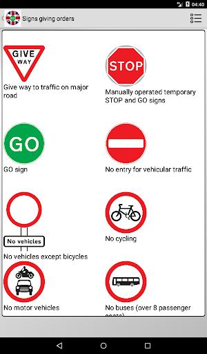 Road signs (Traffic Signs) United Kingdom  screenshots 10