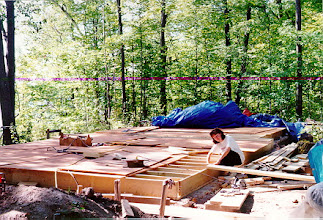 Photo: And finally, in the fall of 1994 the subfloor went in