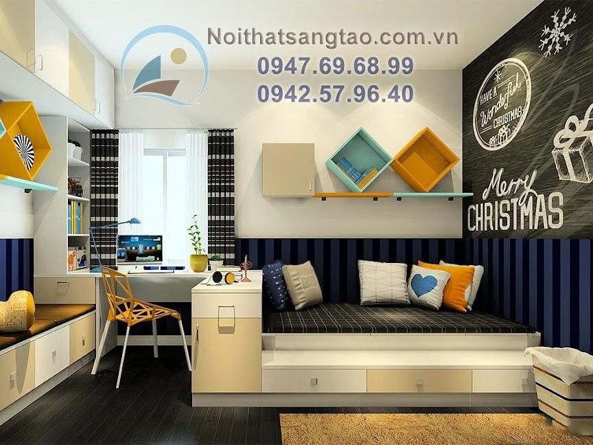 thiết kế phòng ngủ bé trai