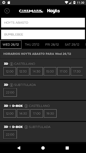 Cine Hoyts Argentina 3.0.8 screenshots 2