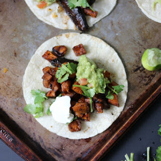 Marinated Mushroom and Sweet Potato Tacos