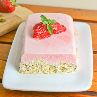 Strawberry Pistachio Semifreddo.