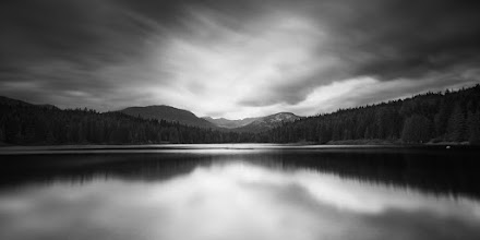 """Photo: """"Lost Lake"""" - http://www.createwithlightphotography.com/  Please view LARGE here: http://tinyurl.com/b2ul69s  This image was created on the shore of Lost Lake in Whistler, British Columbia.  It was a glorious Sunday afternoon in September 2012 and the weather Gods really were kind to me that day. It had been 35 degrees Celsius with blue sky for 4 days, which made my then 8 month pregnant wife a very unhappy camper. Thankfully the heat finally broke on the Sunday and the high was 16 degrees Celsius, which made being outside a pleasure.  British Columbia really is a special part of the world to live in, with so much beauty and diversity in every direction. I really feel blessed to call this place home (technically I call Vancouver home, but you know what I mean).  I used a 10 stop ND filter and a 3 stop hard grad ND filter, to get the right level of contrast and detail in the clouds, mountains, reflections and water.  The techie stuff:  Sony A850 D-SLR Zeiss 16-35mm Lens ISO: 100 Aperture: f/10 Exposure: 82 seconds Focal Length: 16mm Filters: Hitech Pro 10 stop ND filter, Lee 3 stop hard grad ND filter  This is my contribution to the #LongExposureThursday theme, kindly curated by +Francesco Golaand +Le Quoc, the #ThirstyThursday theme, kindly curated by +Giuseppe Basileand +Mark Esguerra, the #FineArtPls theme, curated by the lovely +Marina Chenand +Fineao Fang, the #landscapephotography theme run by +Bill Wood , the +B&W Photographers theme run by +Peter Scharff , the #BWFineArtLE theme, curated by the amazing Mr +Joel Tjintjelaarand +Black and White Fine Art Photography Gallery, #RectanglesAreSexy curated by the enigmatic +Athena Carey, the #DeneMilesIsFabulous theme curated by my wonderful friend, muse and supporter +dene' miles, the #stormyfriday theme curated by +Reinhard Latzkeand finally the #PlusPhotoExtract theme, run by the awesome +Jarek Klimek  All thoughts and comments welcome.  Please visit my website to view more of my images: http://www.createwi"""
