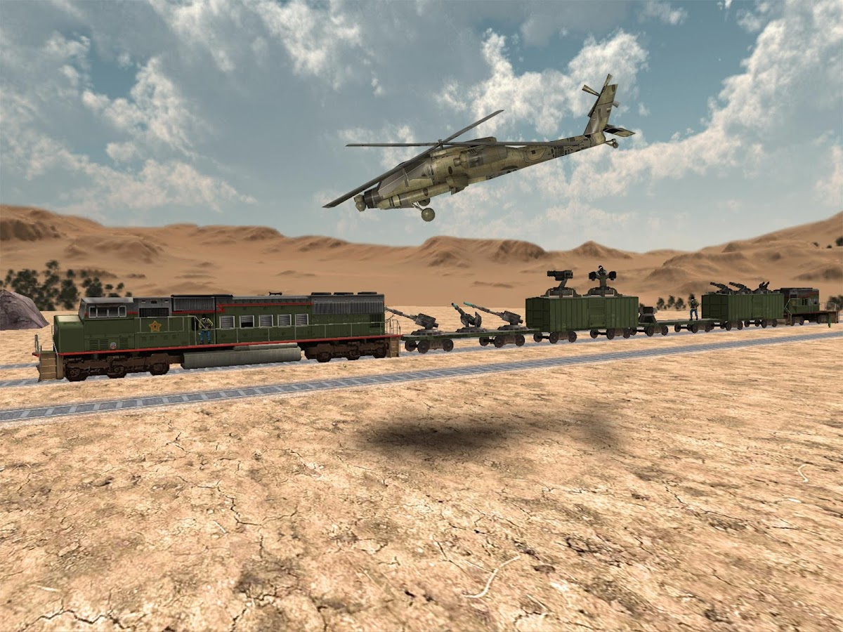 Train Attack 3D- screenshot