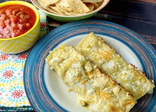 "Green Enchiladas ""I created this original recipe, wanting a lighter version of..."