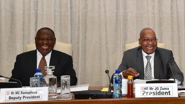 Image result for Zuma and Ramaphosa images