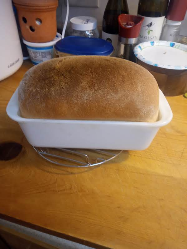 Bread Machine White Bread Just Out Of The Oven