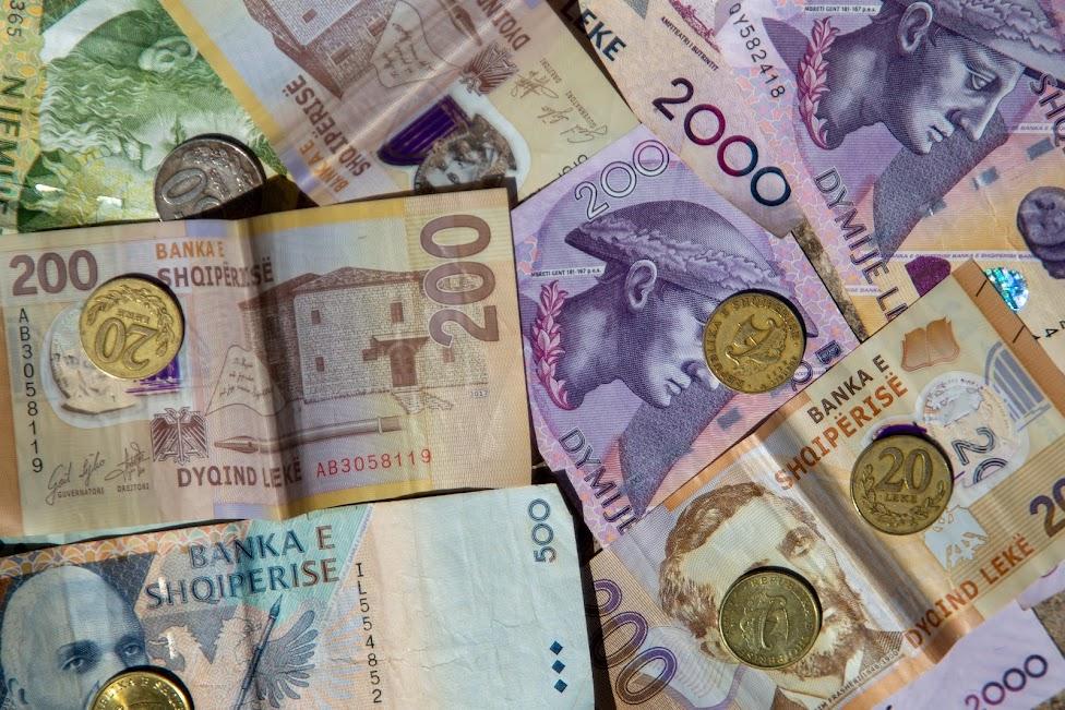 pieniądze, Albania, waluta, lek, ALL