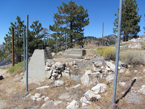 Photo: Ruins of South Mount Hawkins Fire Lookout