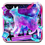 Galaxy Starry Cat Keyboard Icon
