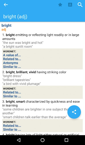 Advanced English and Thesaurus screenshot 1