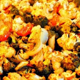 Sheet Pan Roasted Balsamic Cauliflower and Broccoli