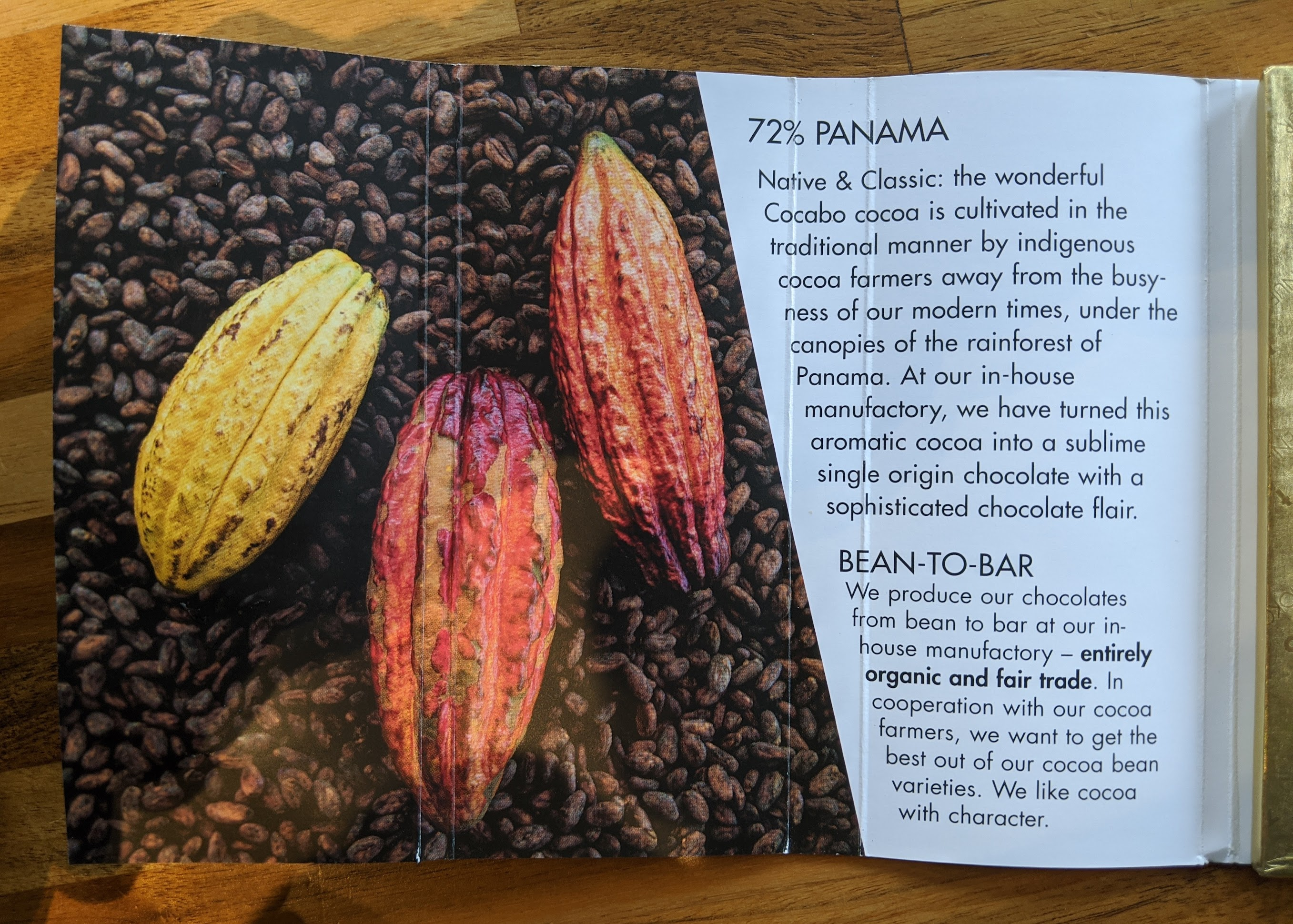 72% zotter panama bar