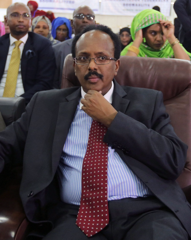 Somali presidential winner  Mohamed Abdullahi Farmajo. Picture: REUTERS/FEISAL OMAR