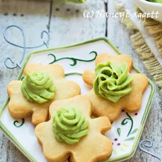 Lime, Fresh Ginger, and Green Tea Buttercream