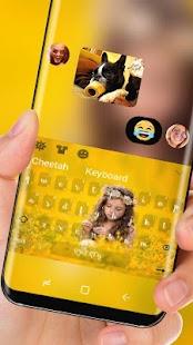 Sunflower Girl Keyboard Golden Sunshine - náhled