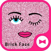 Glitter Wallpaper Brick Face Theme