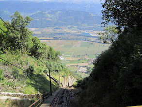 """Photo: The top of the """"funiculaire"""" railway"""