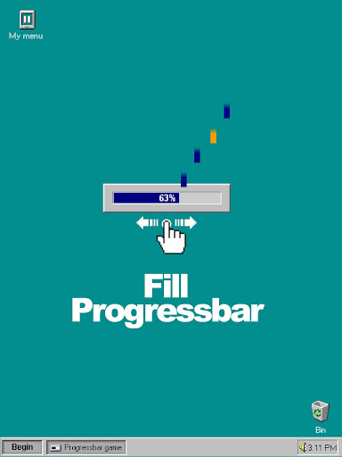 Progressbar95 - easy, nostalgic hyper-casual game 0.5602 screenshots 9